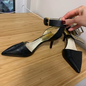 Micheal Kors kitten heel shoes with ankle strap